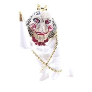 "Psycho Jigsaw Pendant + 24"" x 3mm Rope Chain"